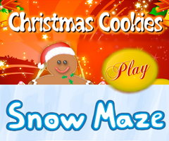 Gingerbread Cookies Game and Snow Maze