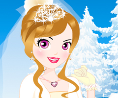 Lovely Winter Bride Dress Up