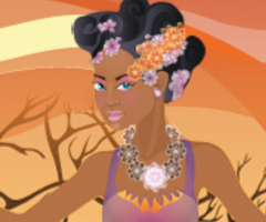 African Princess Dress Up