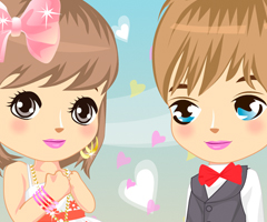 Cute Valentine Love Couple Dress Up