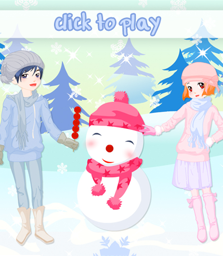 kids_and_snowman_dress_up